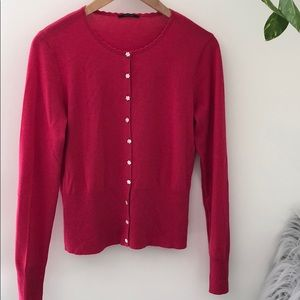 100% cashmere ELIE TAHARI pink cardigan sweater 🌸